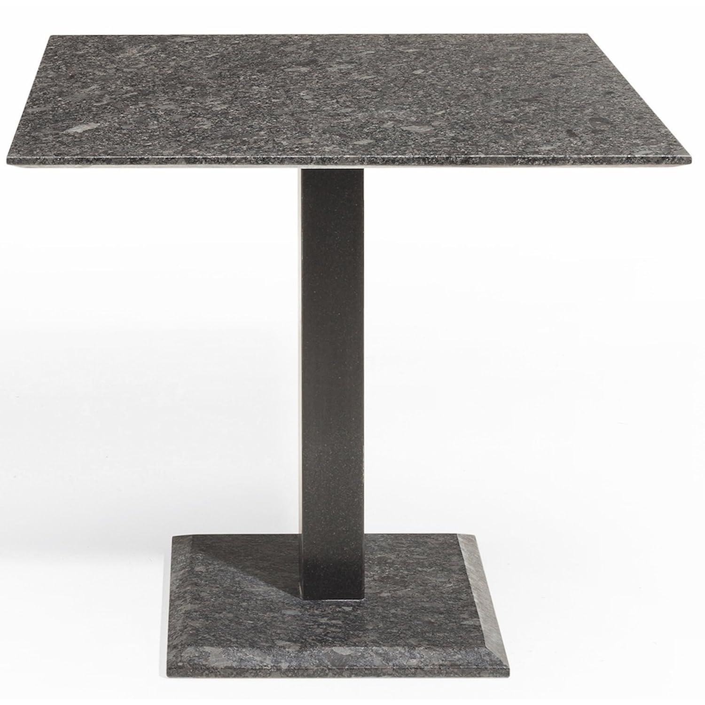 Studio 20 Edam Gartentisch 90 x 90 x 75 cm Outdoortisch Granittisch Stahl Tischplatte Pearl grey satiniert