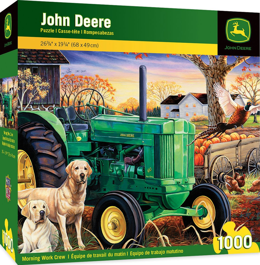 MasterPieces John Deere Morning Work Crew - Model B Tractor 1000 Piece Jigsaw Puzzle