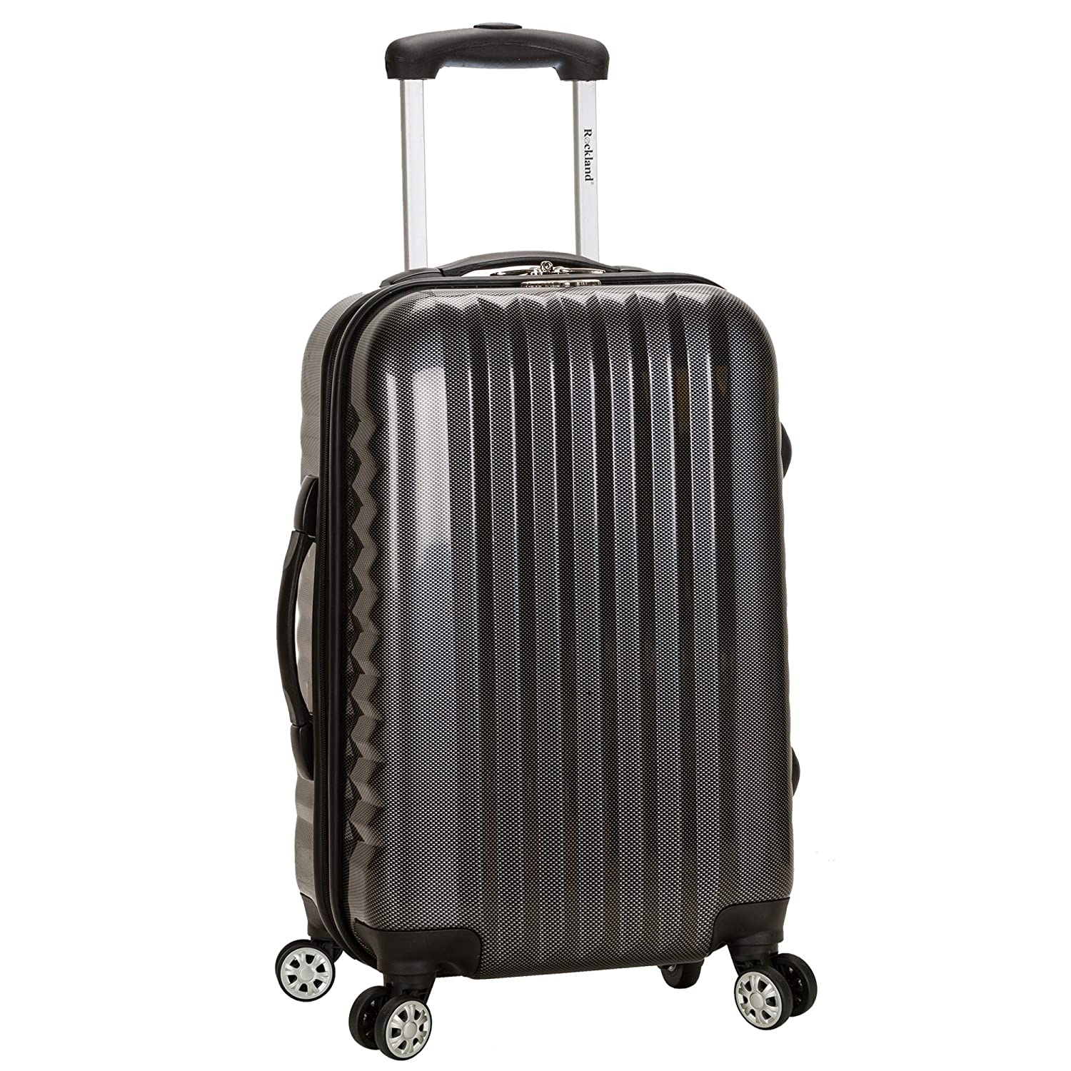 Rockland Luggage Melbourne 20 Inch Expandable Carry On, Carbon, One Size