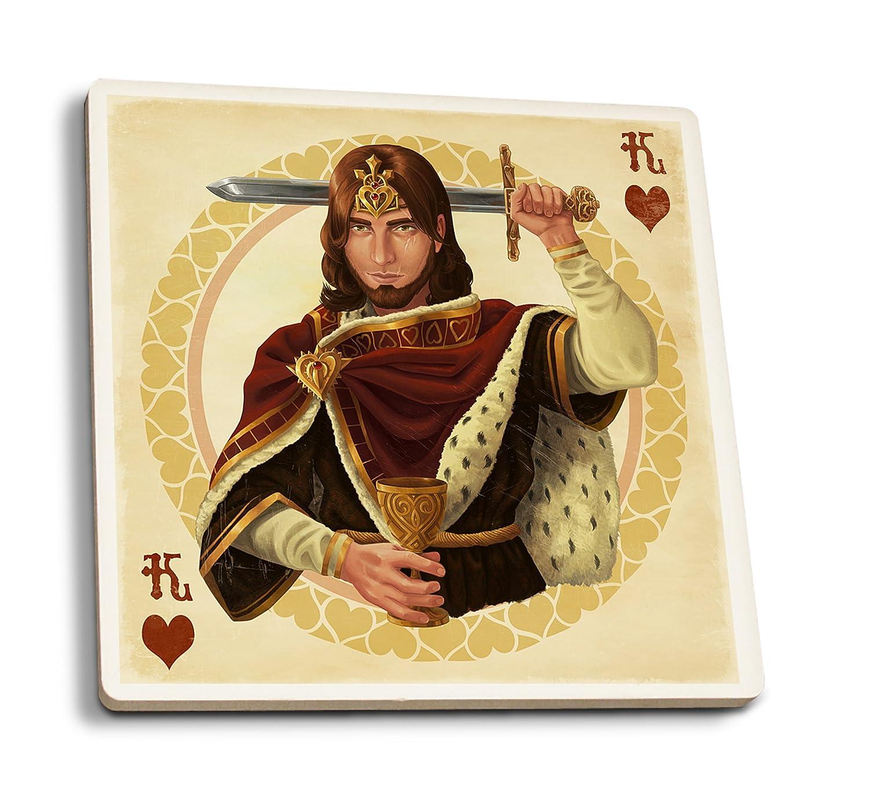 交換無料! ハートのキング Sign – Playingカード 12 x 18 Set Metal Metal Sign LANT-42808-12x18M B01N3YCWTR 4 Coaster Set 4 Coaster Set, ビゼンシ:5a854f98 --- 4x4.lt