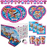Paw Patrol Skye and Everest Girl Birthday Party Supplies Set - Serves 16 - Banner, Tablecover, Dinner Plates, Cake…