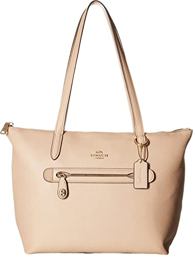 COACH Women s Taylor Tote in Pebbled Leather Li Beechwood One Size 511b1b950c5d8