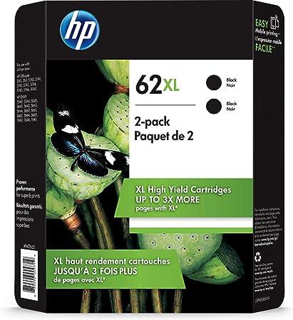 HP 62XL cartucho de tinta Original Negro Multipack 2 pieza(s ...