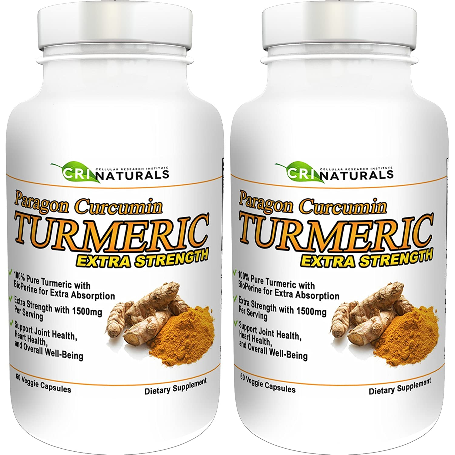 Paragon Curcumin Turmeric-1500mg Extra Strength- Anti-Inflammation – Supports Joint Health – Heart Health – Muscle Pain Relief – 90-Day Satisfaction Guarantee 2-Pack