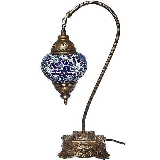 Amazon.com: Lámpara de mesa, mosaico, lámparas de mesita de ...