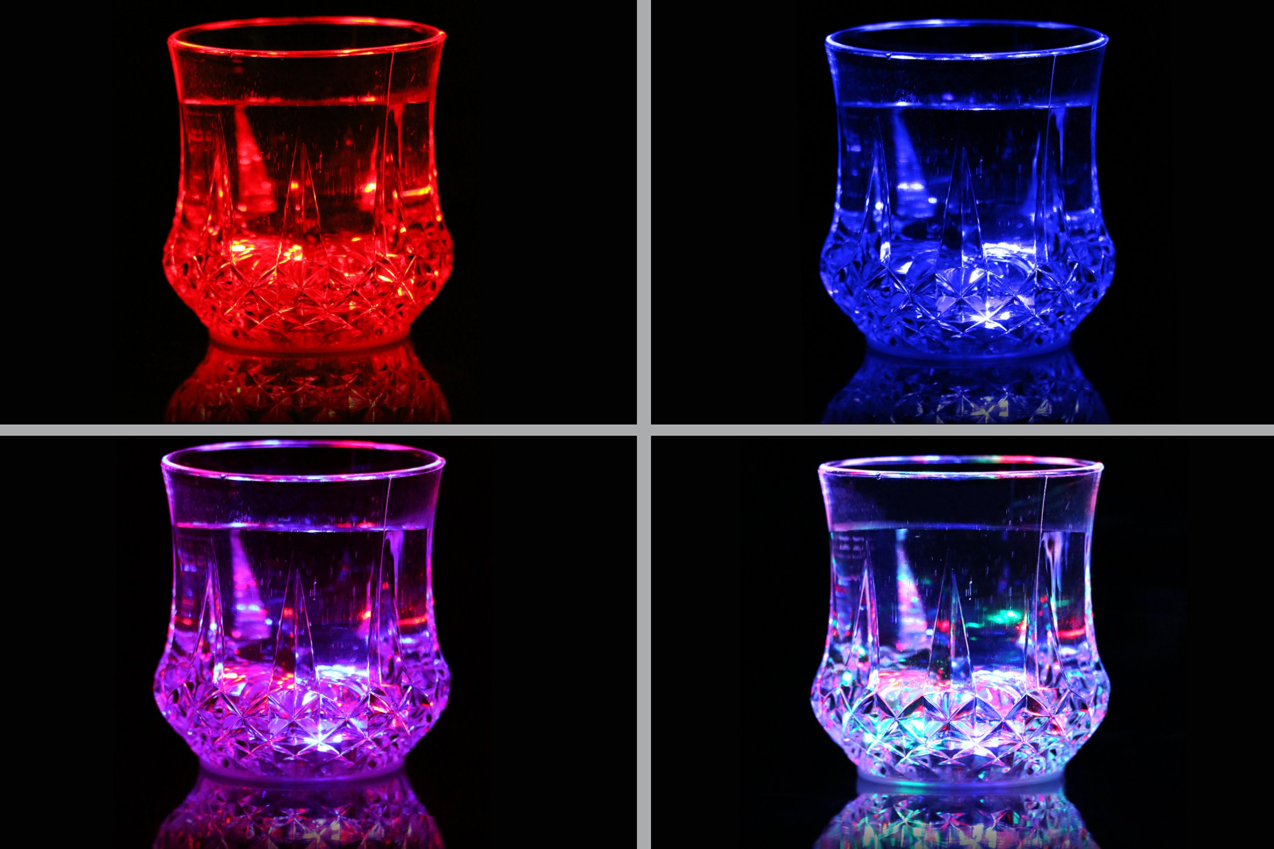 DESERT FOX LED Cup, Led Flashing Cup Appliance for Nightclub Bar KTV home party and Halloween Christmas Events(4 Pack)