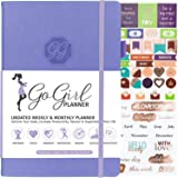 GoGirl Planner and Organizer for Women - A5 Size Weekly Planner, Goals Journal & Agenda to Improve Time Management, Productivity & Live Happier. Undated - Start Anytime, Lasts 1 Year - Lavender