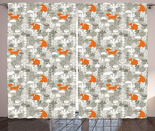 Ambesonne Fox Curtain