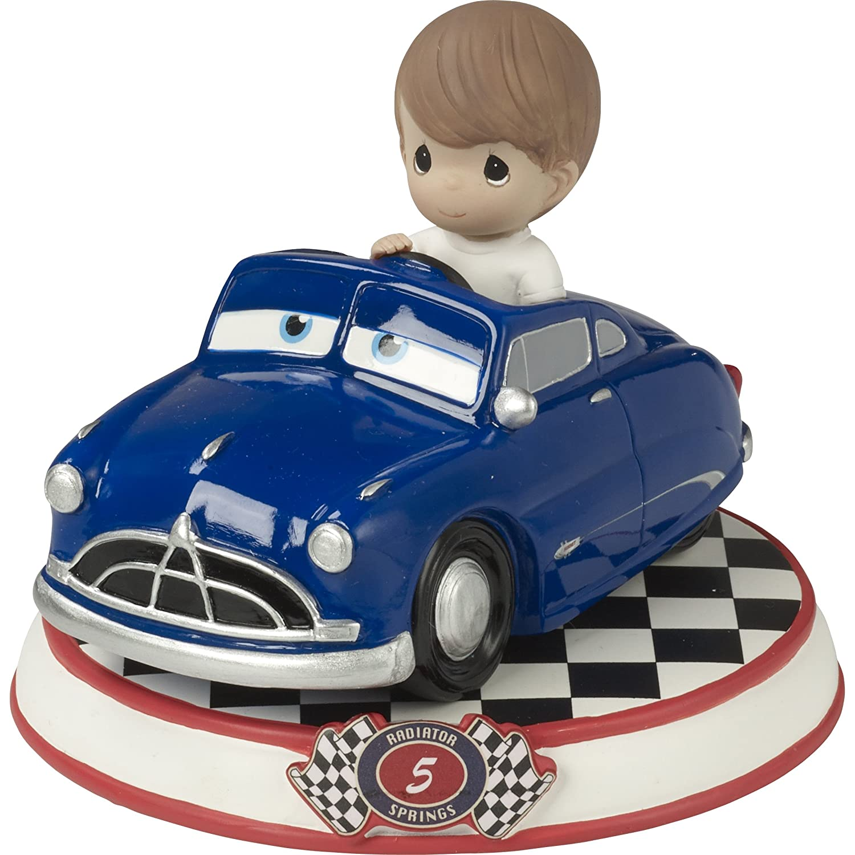 Precious Moments 164435 Doc Hudson Resin Figurine Cars 5 Showcase Disney Pixar Collection, Multicolor