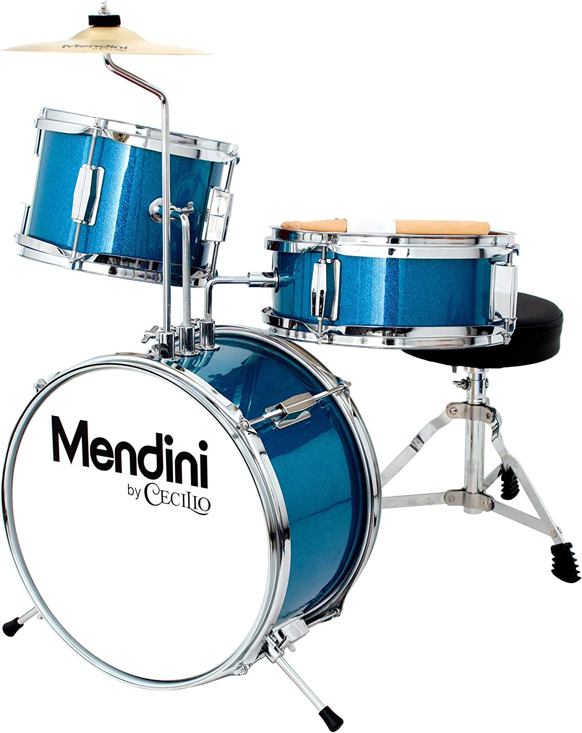 Mendini 3-Piece Junior Drum Set – Best for adjustability