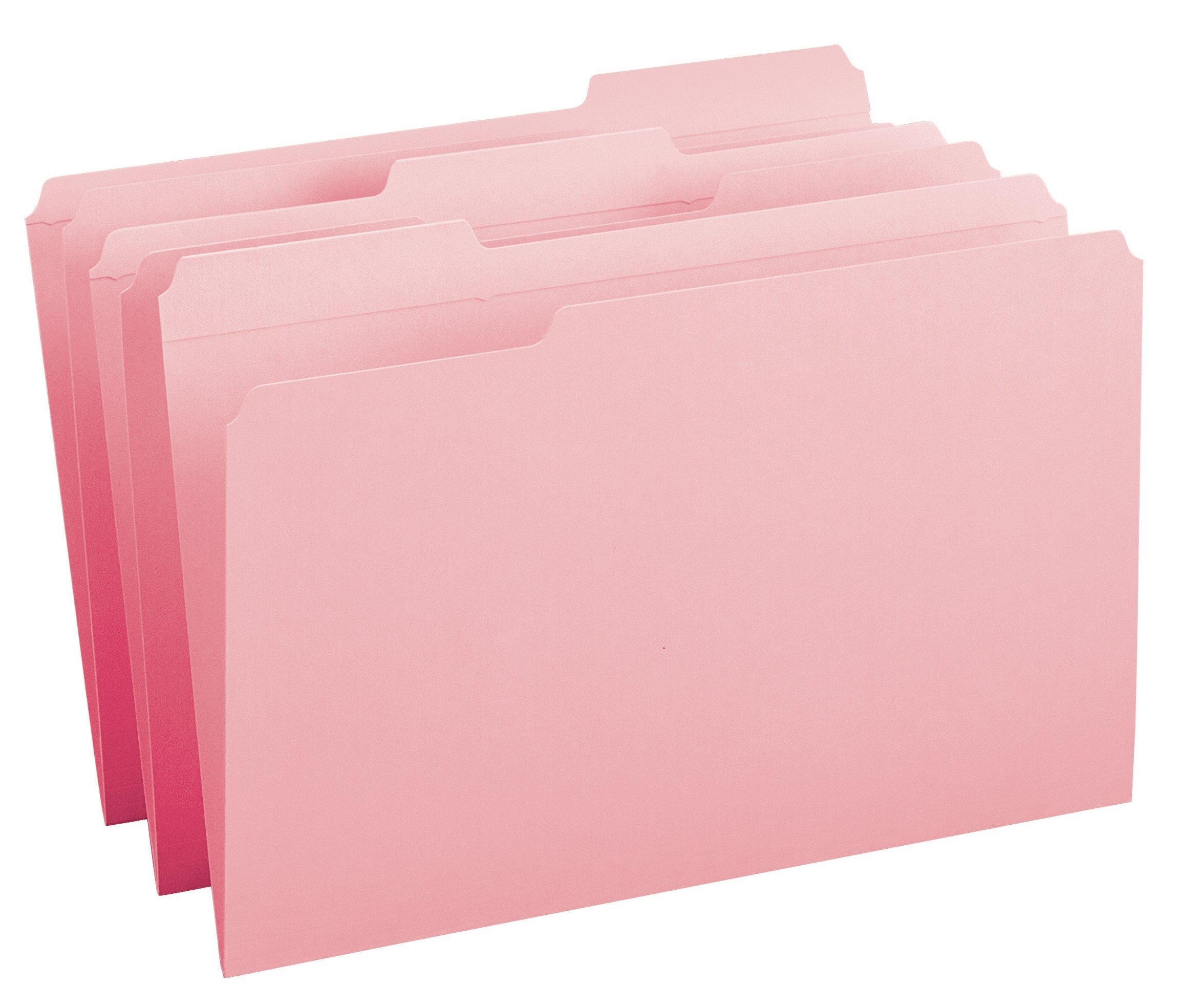 Smead File Folder, Reinforced 1/3-Cut Tab, Legal Size, Pink, 100 per Box (17634) by Smead