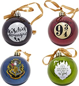 Paladone Harry Potter Ornaments, Christmas Decorations, Set of 4