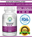 NatureGenx - A.D.K = Vitamin A 5,000 IU   D3 5,000 IU  K2 (as MK-7) 500mcg)   Physician Formulated  Gluten Free   Non-GMO   Compare to  ADK  60 Capsules  2 Months Supply- All Natural Vitamins