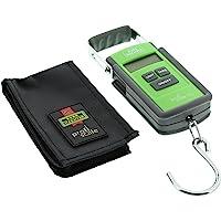BURG-WÄCHTER Báscula portátil digital para equipaje y paquetes Tara PS 7600, Negro/Verde