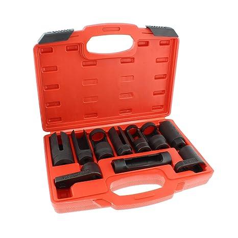 "ABN | Oxygen Sensor Socket Set – 10 Piece O2 Sensor Socket Set Oxygen  Sensor Removal Tool Set 1/2"" and 3/8"" Sq Drive"