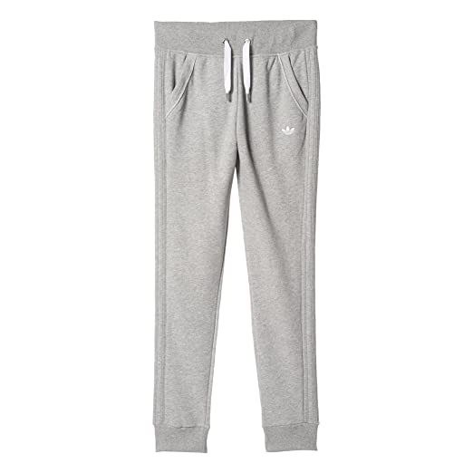 93daa1ea7c1d adidas Originals Women Grey Trefoil Logo Slim Fit Sweat Track Jogging Pants  (S M