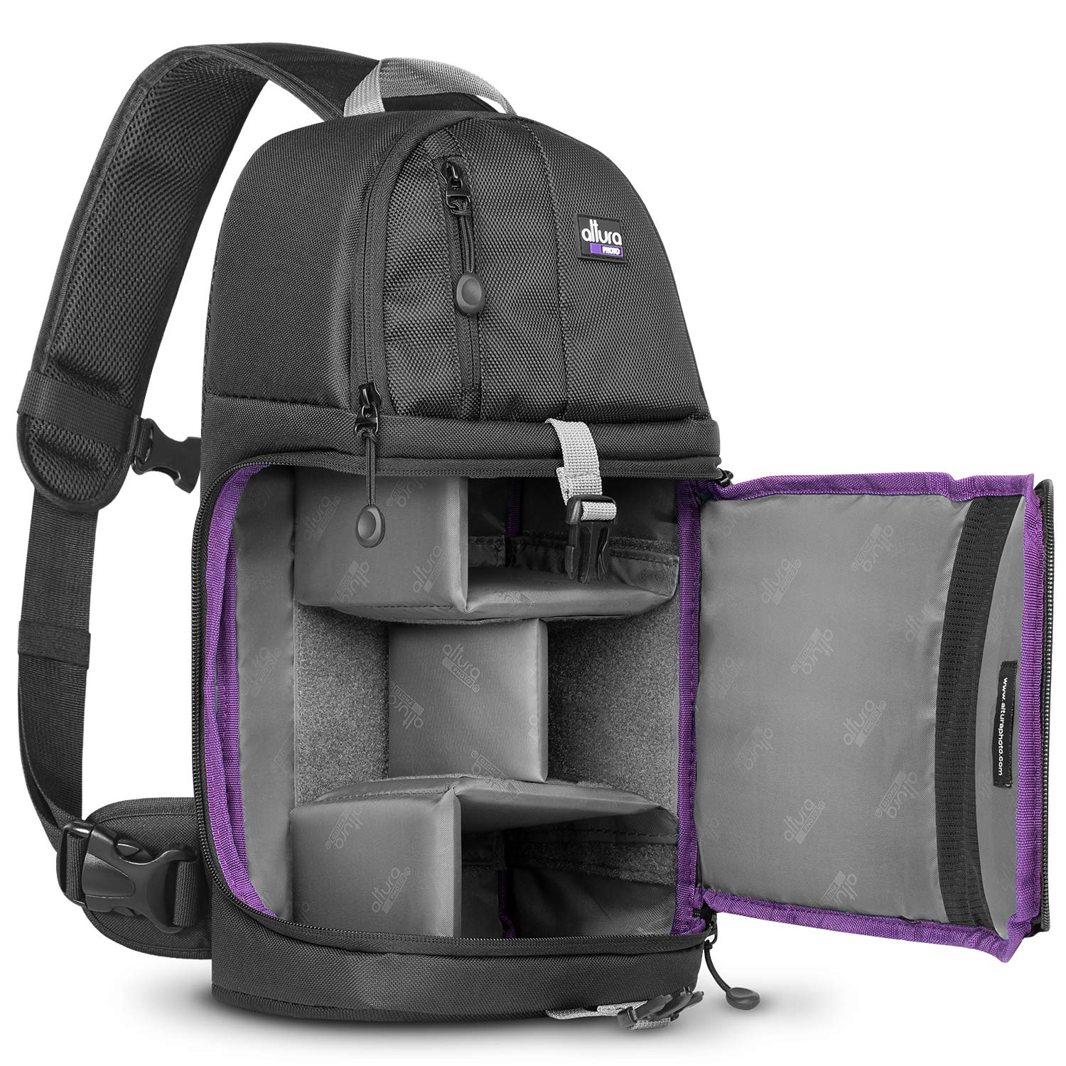 Altura Photo Camera Sling Backpack Bag for DSLR and Mirrorless Cameras (Canon Nikon Sony Pentax) by Altura Photo