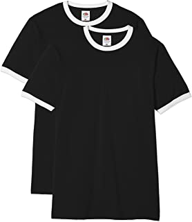 Fruit of the Loom Valueweight Ringer T Camiseta para Hombre: Amazon.es: Ropa y accesorios