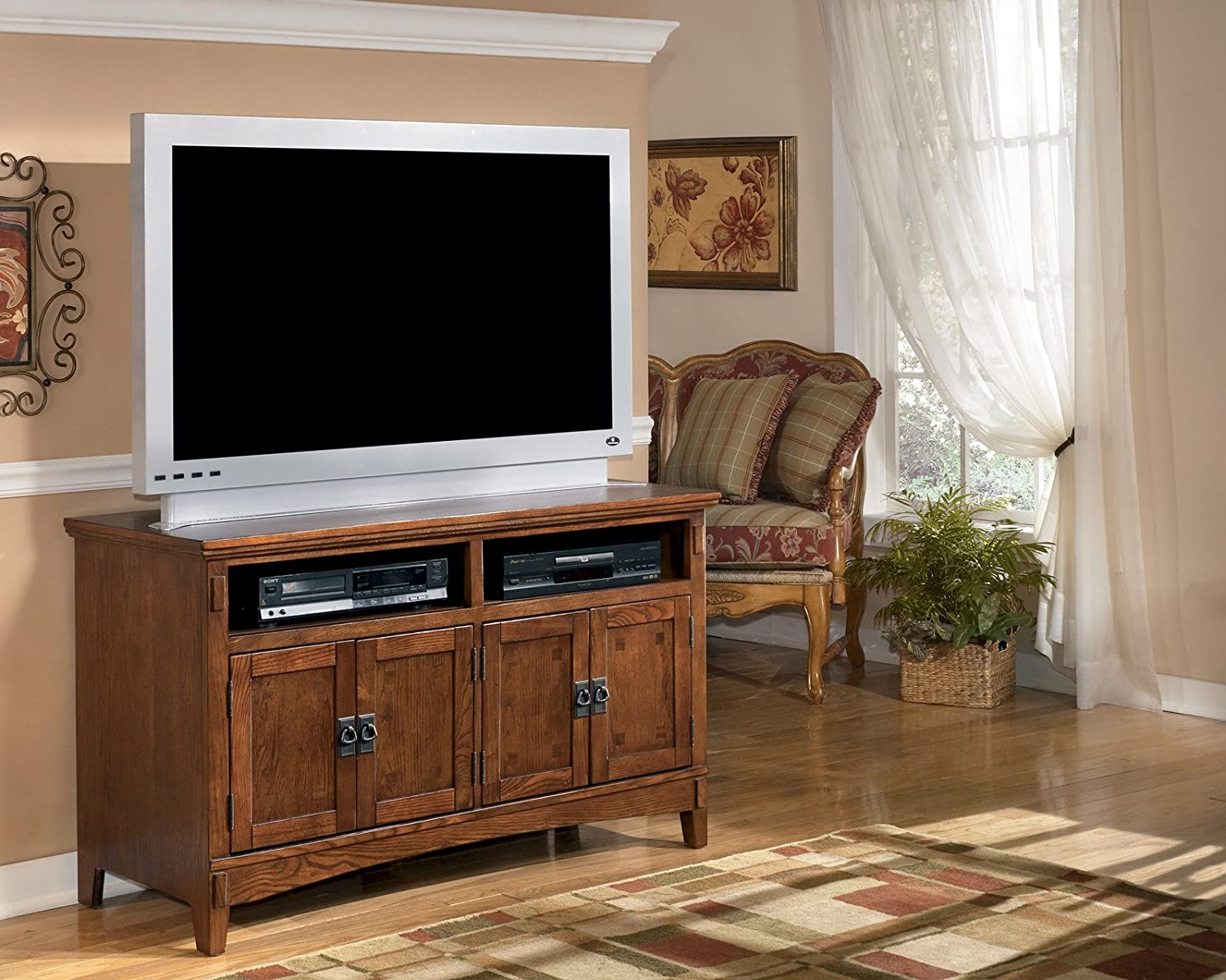 Amazon.com: Ashley Furniture Signature Design   Cross Island   42 In   TV  Stand   Medium Brown: Kitchen U0026 Dining