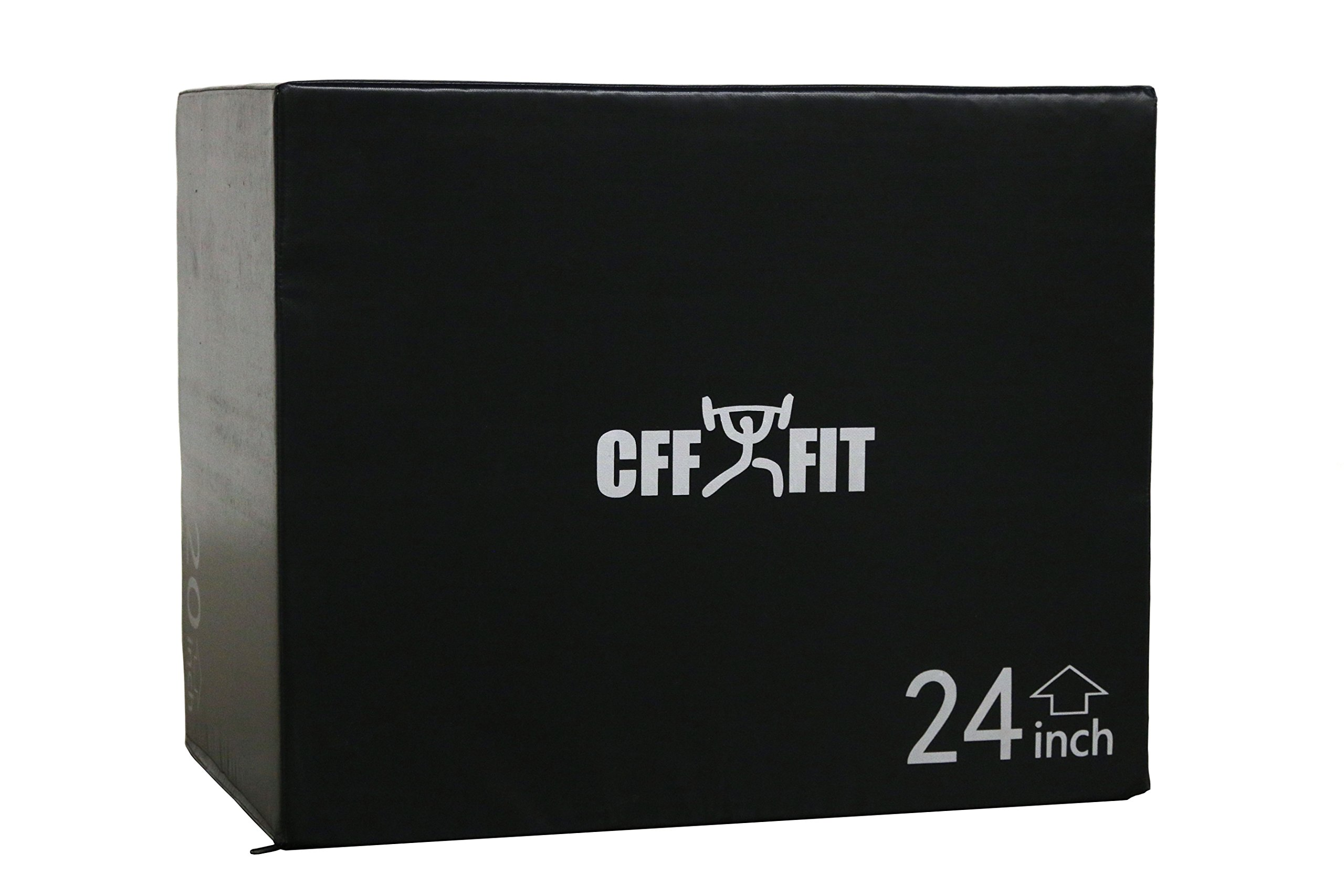 CFF Cushion 3-in-1 Plyo Box, Black, 20/24/30'' by CFF