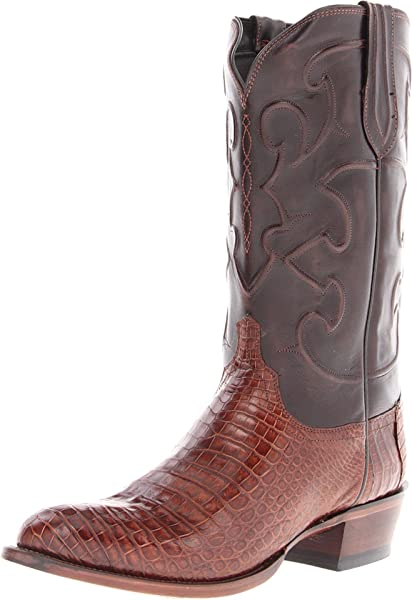 8da4051baf1 Men's Charles Belly Caiman Crocodile Leather Boots