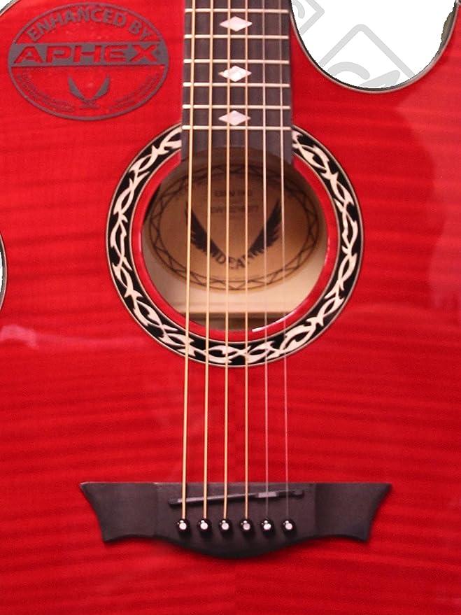 Dean guitarras EX TRD FM madera de arce veteada de exposiciones acústica-de guitarra eléctrica con amplificador Trans Aphex - rojo: Amazon.es: Instrumentos ...