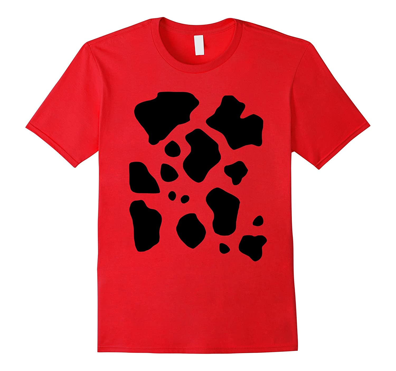 Funny Halloween Costume T-Shirt, Cow Pattern Print Gift Tee-FL