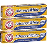Arm & Hammer Advance White Baking Soda and Peroxide Toothpaste, Extreme Whitening, 6 Ounce (Pack of 3)