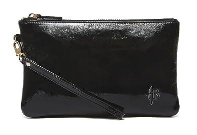 eeec2b1f4b109f Mighty Purse Genuine Leather Phone Charging Wristlet Wallet (Black Gloss)