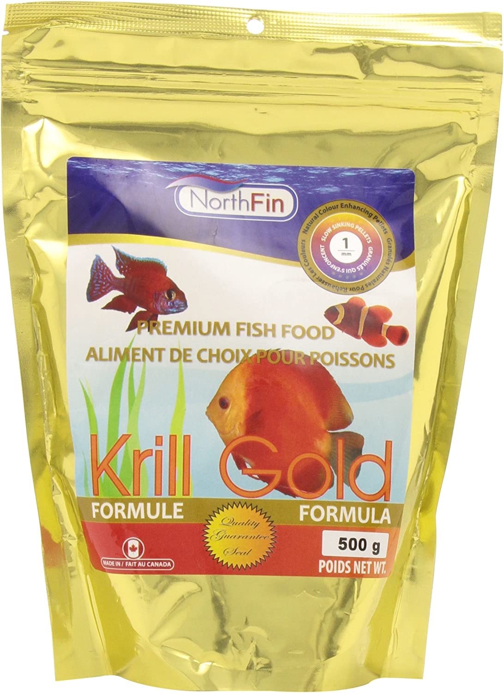 Northfin Food Krill Gold 1Mm Pellet 500 Gram Package