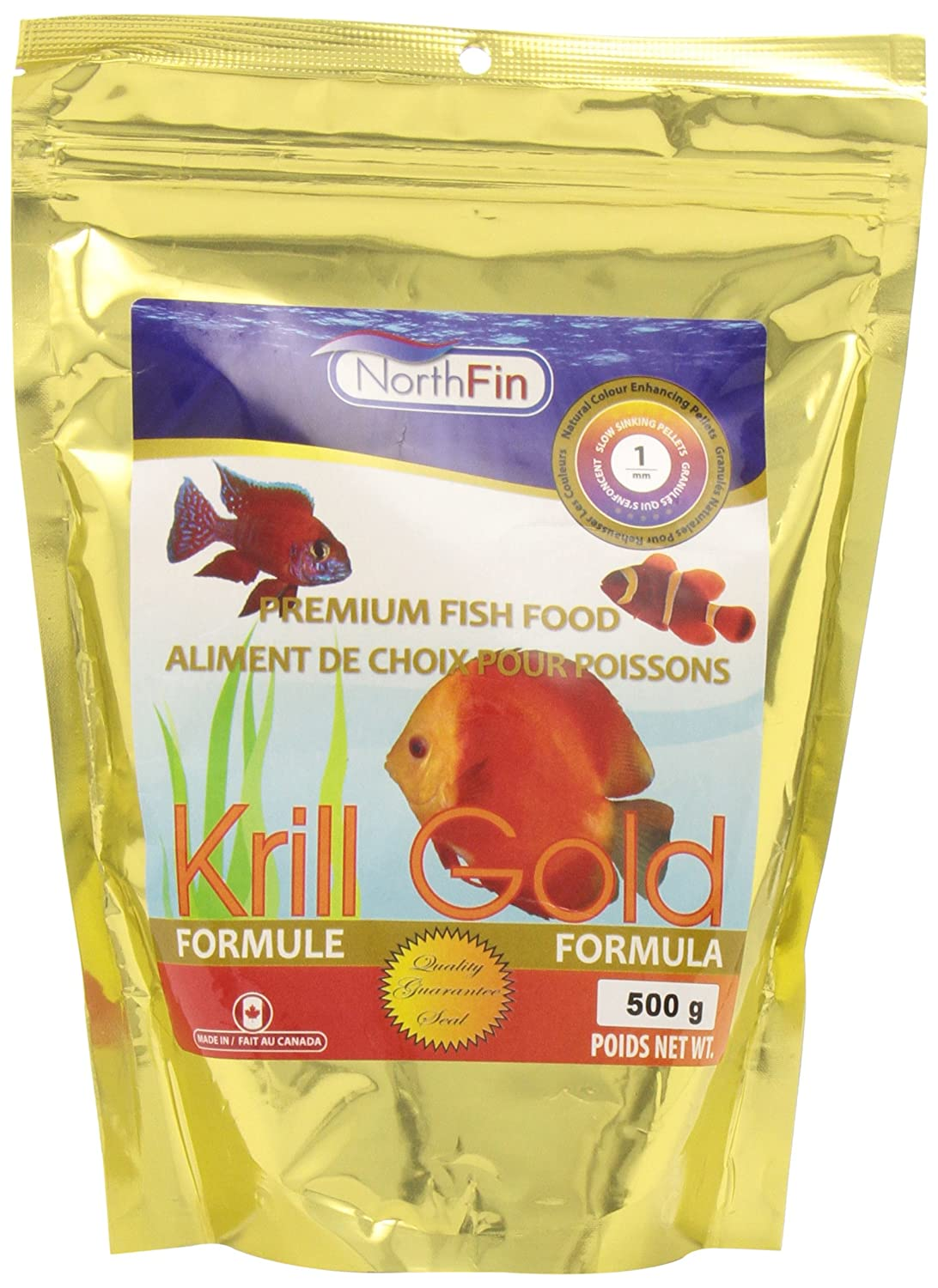 North Fin Krill gold Fish Food 1mm, 500g