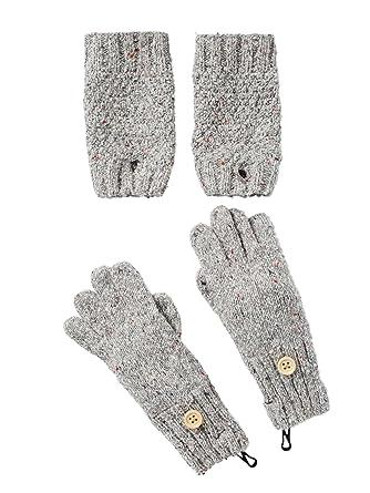 855fc798763 Vertbaudet Ensemble gants et mitaines fille Gris clair chiné 8 10 A   Amazon.fr  Vêtements et accessoires