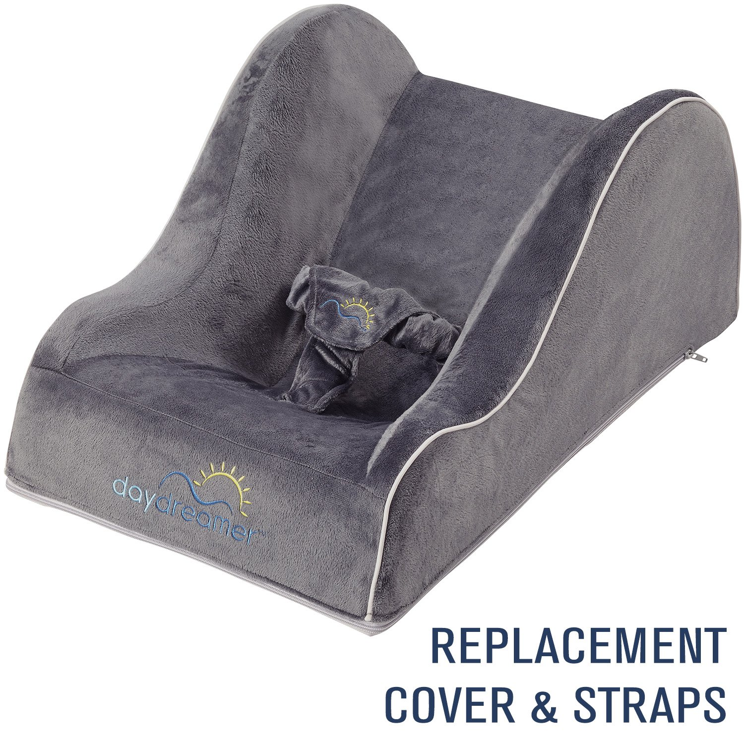 DayDreamer Sleeper Baby Lounger [REPLACEMENT COVER] & Harness Straps | Extra Backup Cover (Dark Grey) Keezio
