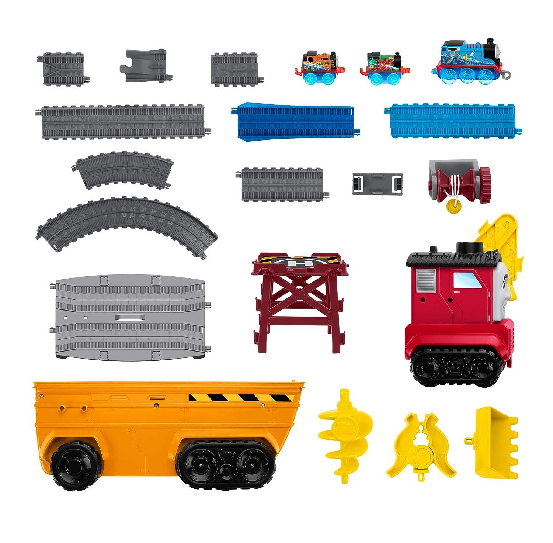 Thomas /& Friends GDV38 Super Cruiser 2-in-1 gro/ßes Fahrzeug und Gleis-Set mit Trackmaster und Minis Lokomotiven Mehrfarbig
