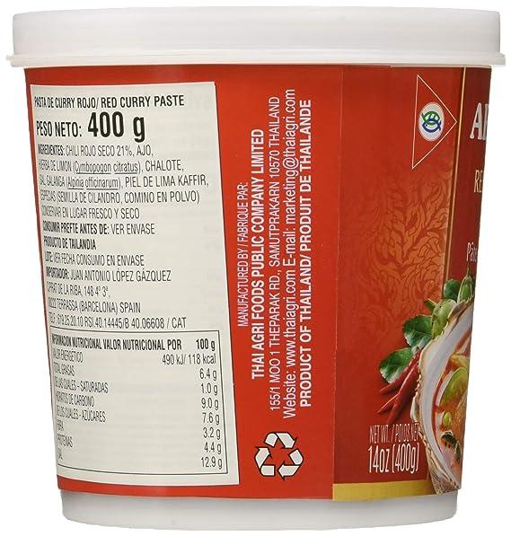 Aroy-D, Salsa de curry (Rojo) - 24 de 400 gr. (Total 9600 gr ...