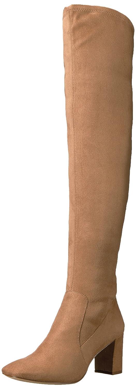 Nine West Women's Xperian B06XHPX9BQ 10 B(M) US|Dark Natural Stretch Suede Fabric