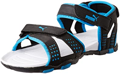 7ca40a69652b Puma Men s Black and Blue Aster Synthetic Athletic   Outdoor Sandals  (30479903) - 11UK