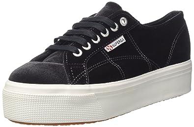 Superga Damen 2790-Velvetw Sneaker, Grau (Dark Grey 004), 39.5 EU