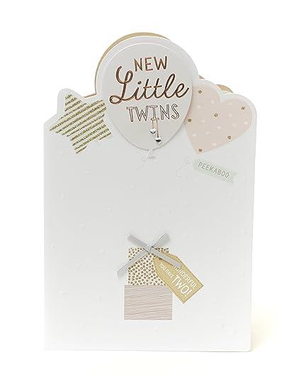 Tarjeta de felicitación por nacimiento de gemelos - nuevo Little ...