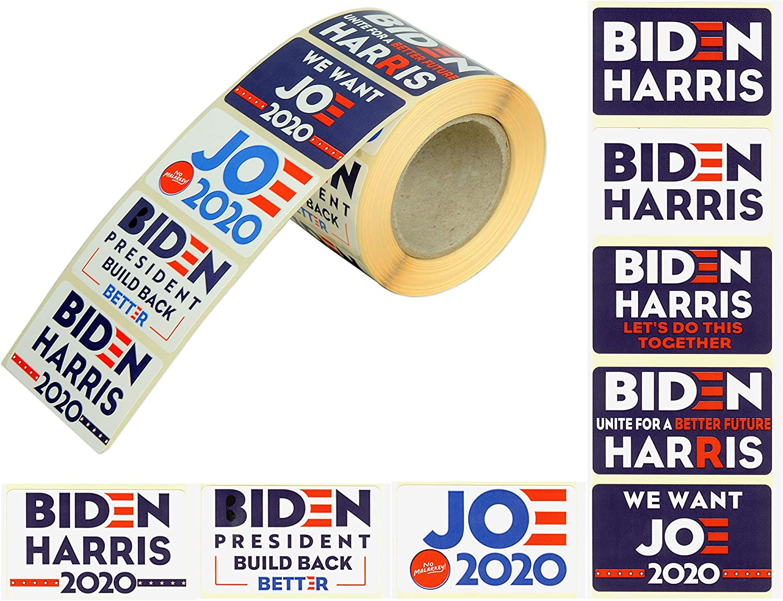 Joe Biden Sticker -Kamala Harris Sticker for car Stickers Bumper Stickers Biden Harris 2020 500 Pcs Role Stickers Bags 8 Patterns Biden Harris Sticker Windows- No Malarkey