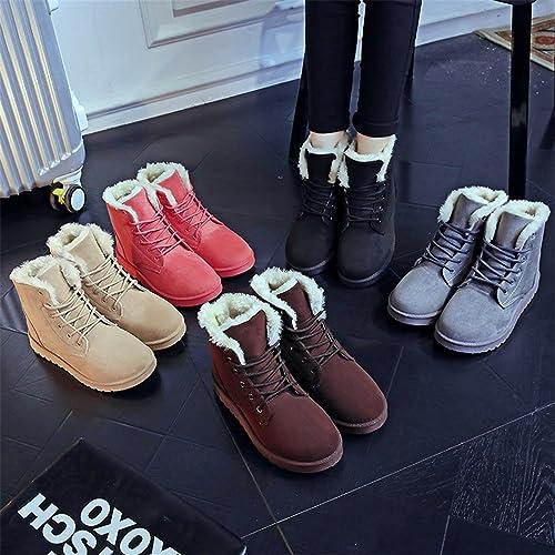 Amazon.com | Baqijian Women Ankle Boots Women Botas Femininas Botines Mujer Ladies Snow Boots Black Winter Boots Women Shoes | Ankle & Bootie