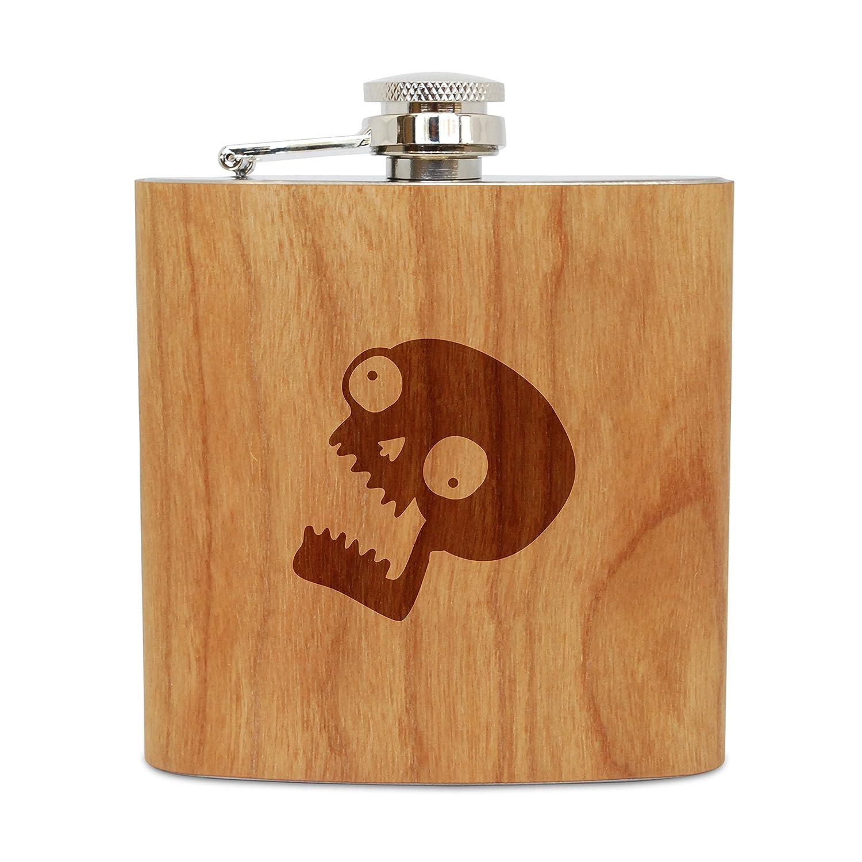 愛用 Screaming Skull 6 oz木製フラスコ(チェリー) B06XB1S9JV、ステンレススチールボディ USA、ハンドメイドin Screaming USA B06XB1S9JV, リッチェル:d9802fe8 --- a0267596.xsph.ru