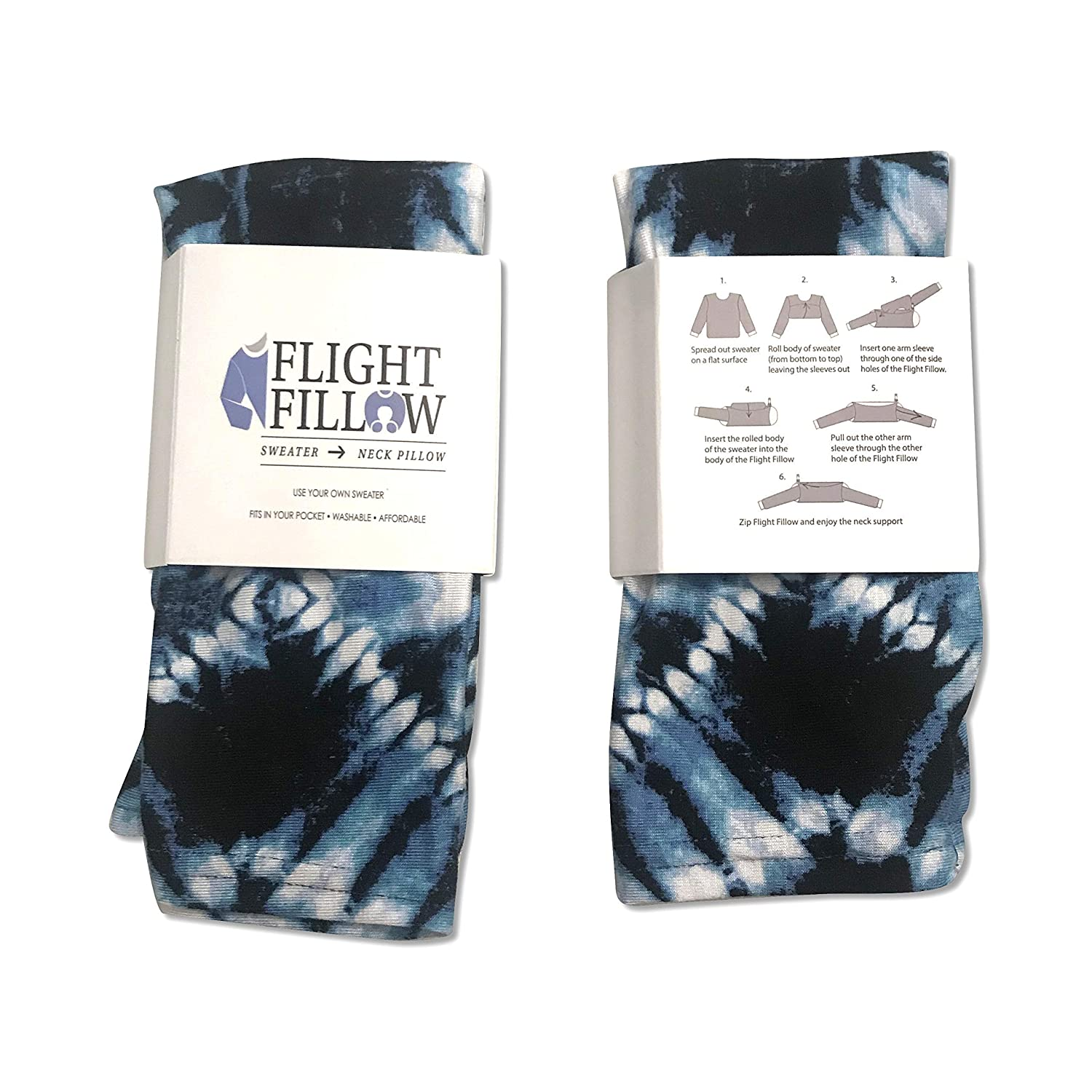 The Tye Dye Patterned Flight Fillow travel product recommended by Georgia McKinney on Lifney.