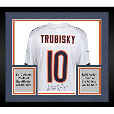 release date 96e9b bf6ab Framed Mitchell Trubisky Chicago Bears Autographed White ...