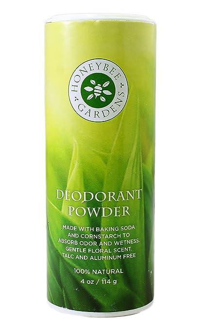 Honeybee Gardens: Talc, Aluminum and Gluten-Free Vegan Deodorant Powder, 4 oz