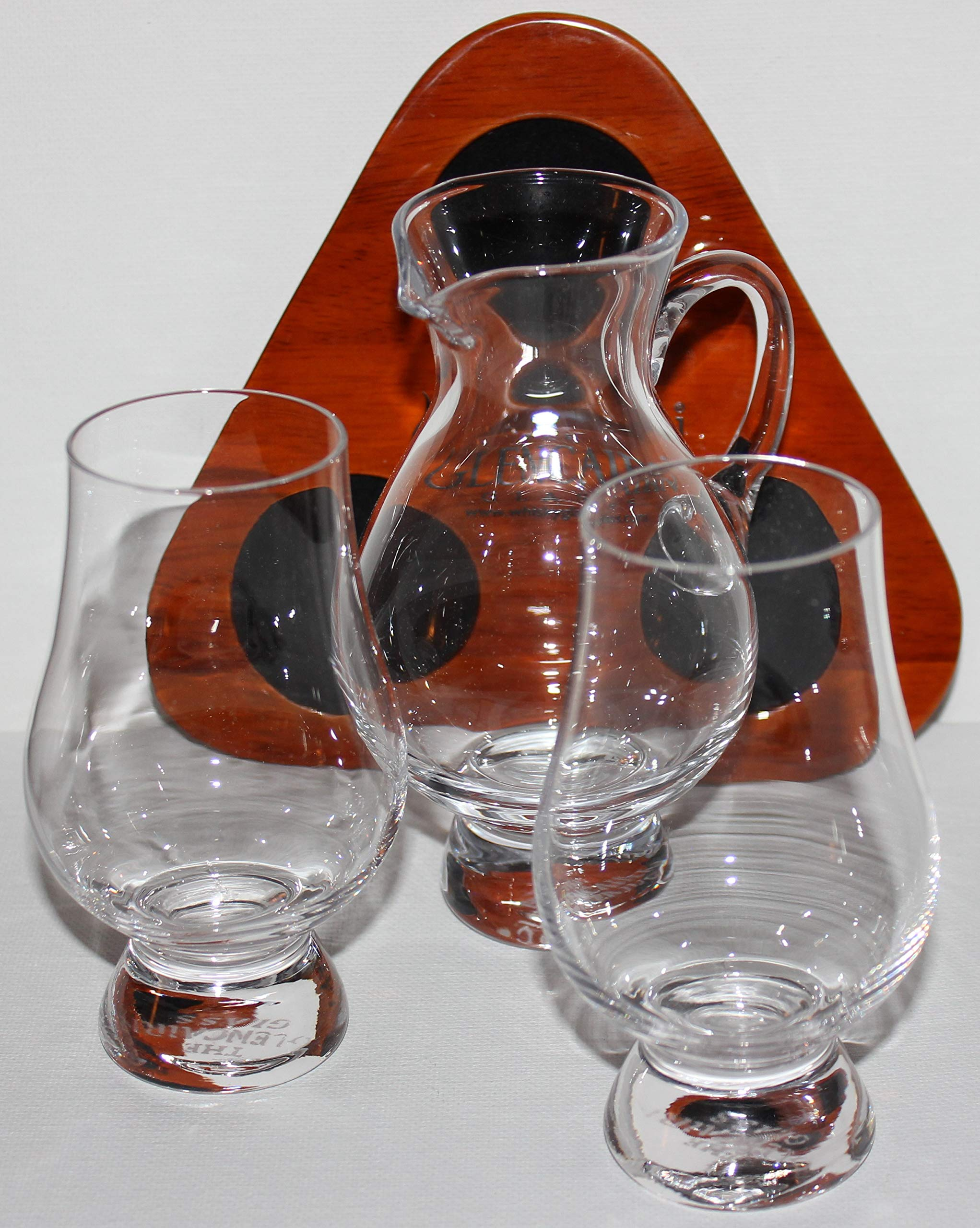 FLIGHT TRAY SET WITH TWO GLENCAIRN SCOTCH WHISKY GLASSES & IONA WATER PITCHER by Glencairn