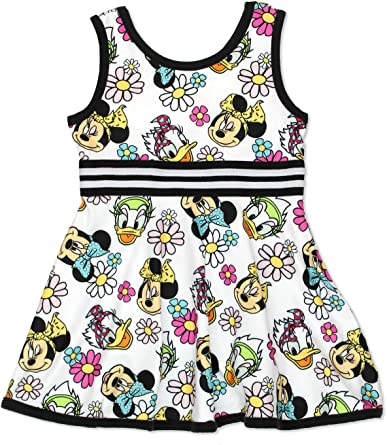 Toddler Girls Minnie Mouse Sleeveless Tutu Dress With Lace 2T,3T,4T,5T