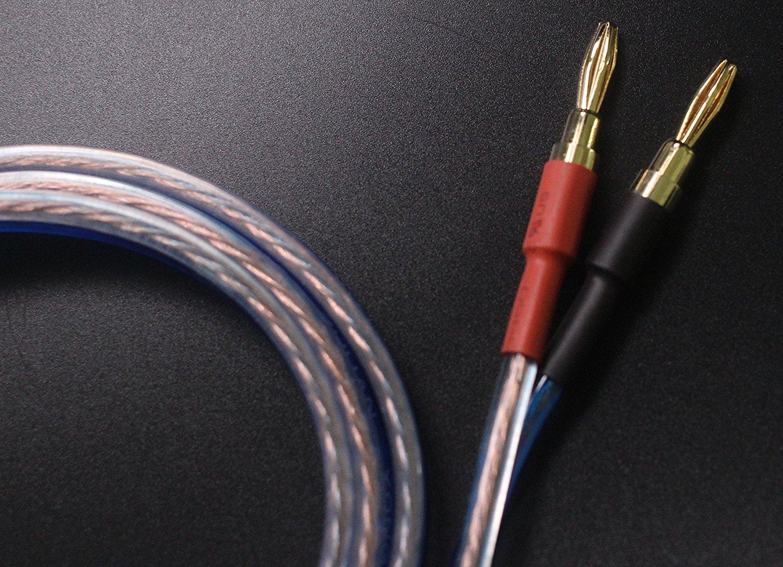 KK YB-ZB 1pair set(4 Spade Plug & 4 Banana Plug) HIFI OFC Speaker Wire,