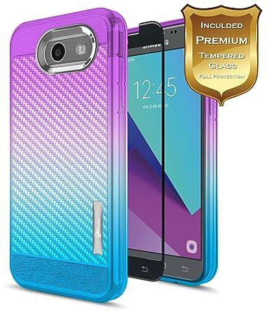 Amazon.com: Samsung Galaxy J3 funda de 2017 con [Protector ...