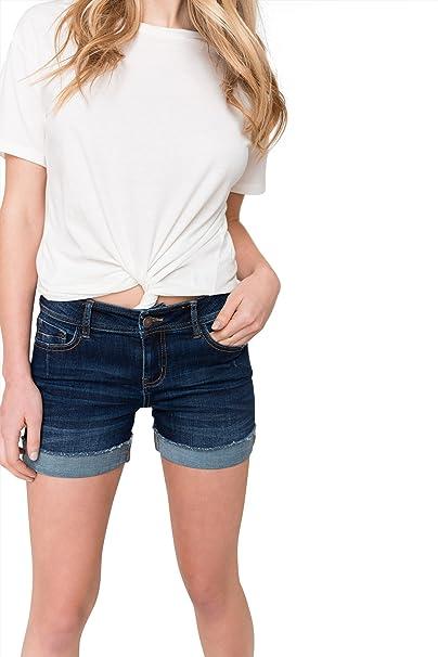 dd01a364bb Ardene Women's - Denim Shorts - Frayed Cuffed Jean Shorts 5 -(8A-AP02739
